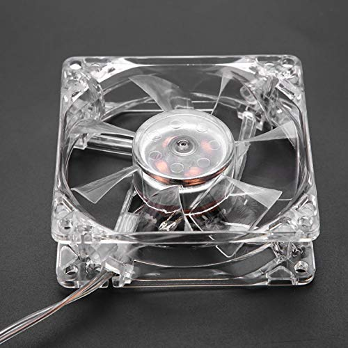 Rosvola Ventilador de enfriamiento USB, Ventilador de enfriamiento de CPU LED, 8cm para computadora PC