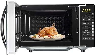 JINRU Horno Microondas con Sensor Inteligente, Interior De Fácil Limpieza, Modo Eco Y Sonido Activado/Desactivado, 21L, 700W, Acero Inoxidable Negro