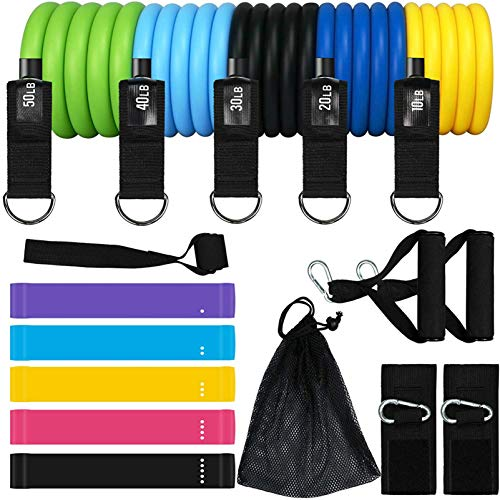 KEAFOLS Resistance Bands 16er Pack Fitnessband Fitnessbänder Set Hochwertige Expander und...