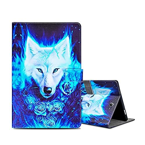 ONETHEFULCarcasaLibroFundaTabletSamsung Galaxy Tab A / A6 10.1' 2016 T580 T585CoverFundasProtectorconPU CueroySoporte- Lobo Rosa