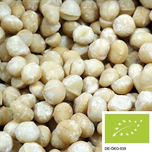 1kg Noci di Macadamia bio intere non salate e senza additivi, provenienti da coltivazione biologica controllata