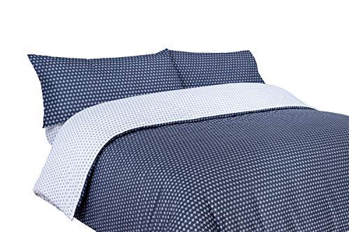 Funda nórdica Estampada geométrica Azul Marino (Ringo para Cama de 90x190/200 Nórdico de 150)