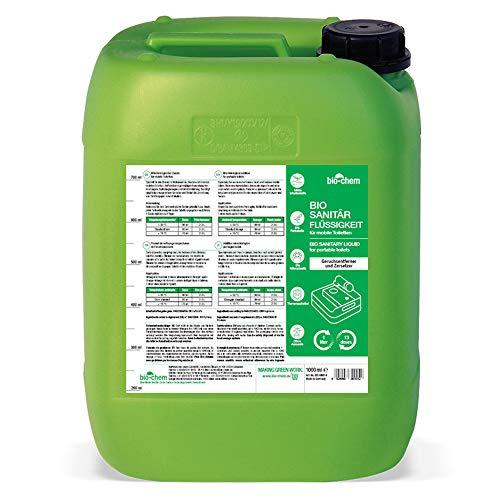 Bio-Chem Additivo per sanitari, liquido biologico per toilette da campeggio, concentrato per toilette da campeggio, liquido chimico e toilette mobile (1 x 5000 ml (+ accessori)