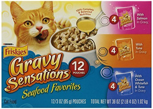 Friskies Gravy Sensation Sea Food Corporation, paquete de 3 bolsas de sabor de 3 onzas (Pack de 24) por Purina Friskies