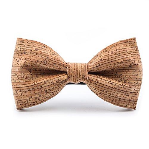 KOOWI La Corbata de Madera Hecha a Mano del Lazo de Madera de Los Hombres Creativos Handcrafted para la Boda o el Desgaste Diario (B)