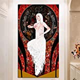 YWOHP Pittura a Olio Bella Donna Bianca Arte Pittura su Tela Decorazione della Stanza Wall Art Pittura Immagine per la Decorazione Domestica Pittura su Tela Senza Cornice