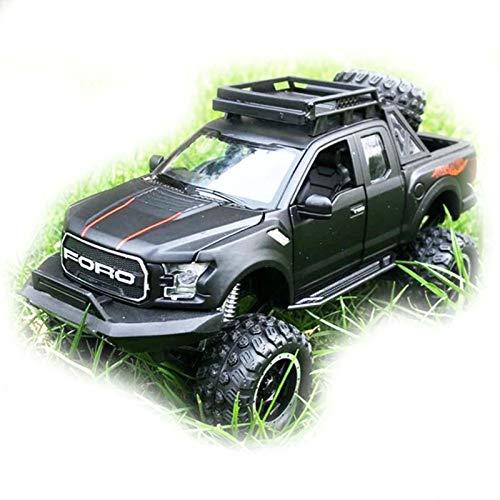 1:32 para Ford Raptor F150 Camioneta De Juguete De Metal Aleación Diecast Modelo De Coche Juguetes De Regalo para Niños Modelo De Auto (Color : Black)