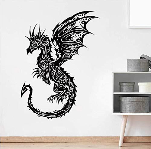 Cartoon Draak muursticker baby kleuterschool kinderkamer sprookjes dier drak dinosaurus muur applique slaapkamer vinyl wooncultuur 56x41 cm