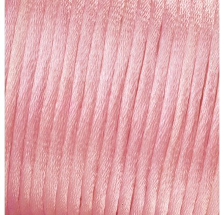 Kumihimo 2 mm x 15 m-Cordon de Satin Rose clair