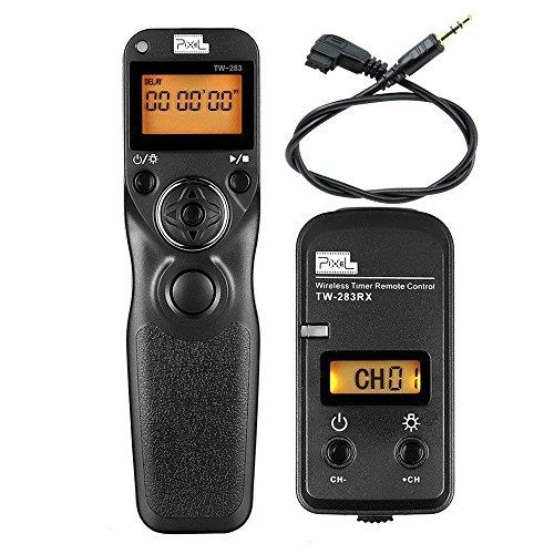 Pixel FSK 2.4GHz LCD Disparador Inalámbrico Temporizador Mandos a Distancia TW283-S1 para Sony Konica Minolta Cámaras Réflex Digital