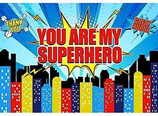 """Allenjoy Fotohintergrund für Krankenschwestern, Aufschrift: """"You are my Superhero"""", 20 x 150 cm"""