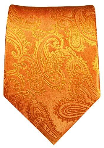 Cravate homme l'orange paisley 100% cravate en soie ( longueur 165cm )