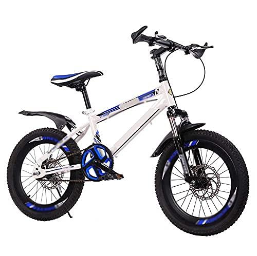 HUAQINEI Bicicleta Bicicleta para Exteriores para niños Adecuada para niños de 7 a 14 años y Bicicletas de montaña para niños, Color Blanco, 18 Pulgadas