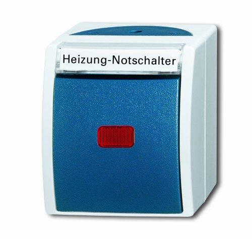 Busch-Jaeger BUSC Heizungsnot-/Kontrollschalter 2601/2 SKWNH-53 2polig, 250 V