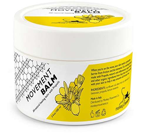Anti-Chafe Skin Healing Cream: All Natural Chafing Itch Relief Balm with Propolis - Sweat Resistant for Eczema and Irritated Skin