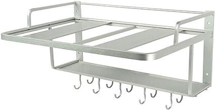KJX Soporte de Pared para Rejilla de Horno microondas, Espacio de Aluminio Duradero, Material de protección Ambiental a Prueba de Herrumbre y Alta Temperatura, fácil de Montar