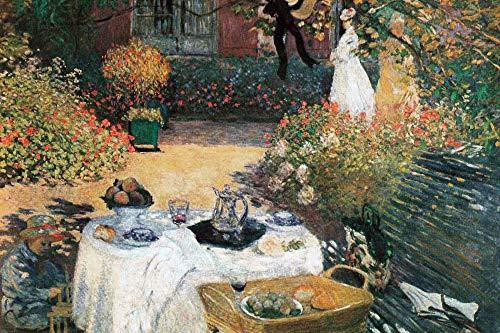 1art1 Claude Monet Posters XXL - Le Déjeuner, 1873 (120 x 80 cm)
