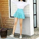 Falda para Mujer,A Cuadros Azul Estampado Geométrico Cremallera Trasera Cintura Alta Mini Falda Plisada...