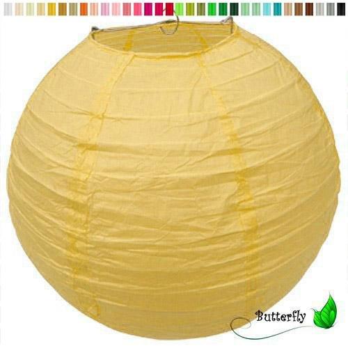 Creativery Papier Lampion 20cm gelb 645 Laterne Hochzeit Party Wohnungsdeko Hängedeko Raumdeko Geburtstag Party Feier