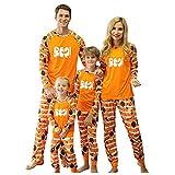 Alueeu Pijamas Halloween para Familias Top+Pantalones Ropa de Dormir Mamá Papá Niños Bebé Casual Homewear Conjuntos Vacaciones Invierno Otoño