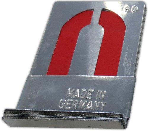 Signierschablonen Zahlensatz 0-9 (10 Stk) 90 mm starkes Zinkblech Blockschrift nach DIN 1451 Made in Germany