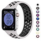 Zekapu Compatibile con Apple Watch Cinturino 38mm 40mm, Cinturino Sport Morbido Silicone...