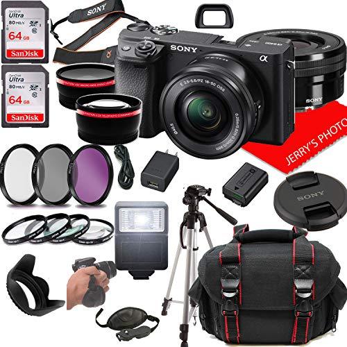 Sony alpha a6400 mirrorless digital camera with 16-50mm lens + case + 128gb memory (25pc bundle)