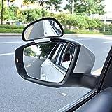 WINOMO Specchio angolo morto per auto con clip regolabile in Argento