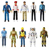 Beverly Hills Doll Collection Sweet Li'l Family Dollhouse Figures - Firefighter, Police Officer, Doctor and More, Set of 10 Action Figure People Doll House Set, Pretend Play for Kids and Toddlers