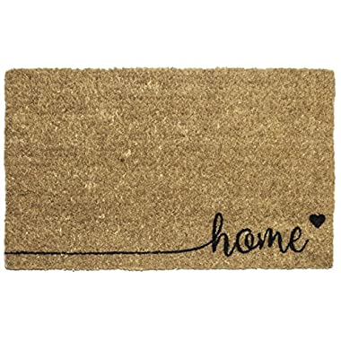 Entryways Home, Hand-Stenciled, All-Natural Coconut Fiber Coir Doormat 18  X 30  x .75