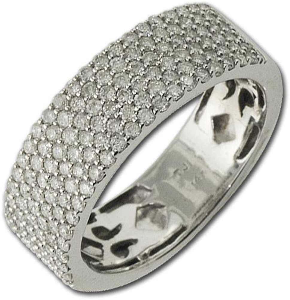 TriJewels We OFFer at cheap prices Diamond Wedding New Shipping Free Band 1.00 ct 14K tw Gold in White