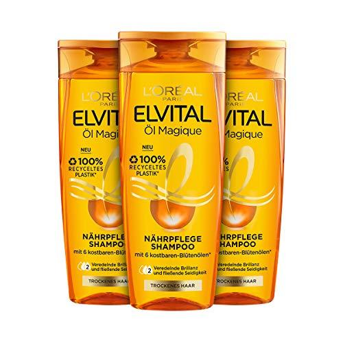 L'Oréal Paris Elvital Shampoo Öl Magique normales Haar, 3er Pack (3 x 300 ml)