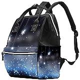Bennigiry Stars - Mochila para pañales, gran capacidad, bolsa de viaje, bolsa organizadora de pañales multifunción para mamá