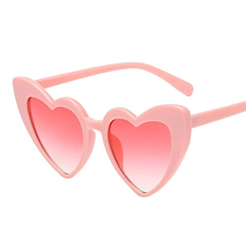 ccdd779216 Fat.chot Women Sunglasses Heart-shaped Retro Thick Frame Vintage Eyewear  Fashion Integrated UV