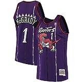 USNN Camiseta de baloncesto para exteriores, Tracy Toronto NO.1 Raptors McGrady Mitchell & Ness 1998-99 Hardwood Classics Swingman Jersey Sudadera de secado rápido para hombre, color morado