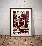guyfam Vintage Poster Laos - Champasak - Wat PHU - Fine Art