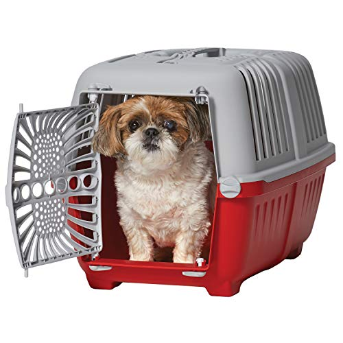 Midwest Spree Travel Pet Carrier | Hard-Sided Pet Kennel Ideal for XS Dog Breeds, Small Cats & Small Animals | Dog Carrier Measures 22.3L x 14.2 W x 15H - Inches| Great for Short Trips to The Vet