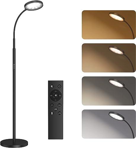 Lampadaire sur Pied Salon, SUNMORY Lampadaire LED 12W, 4 Températures de Couleur, Gradation en Continu, Télécommande ...