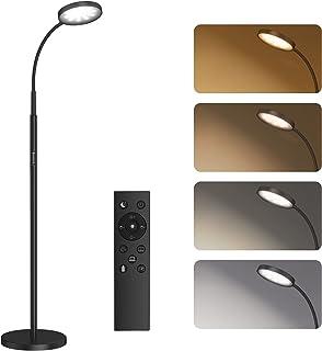 Lampadaire sur Pied Salon, SUNMORY Lampadaire LED 12W, 4 Températures de Couleur, Gradation en Continu, Télécommande et Co...