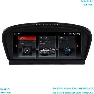 XISEDO Android 8.1 Head Unit 8.8 Inch 6-Core Car Stereo Car Radio RAM 2G ROM 32G Sat Nav Car GPS Navigation for BMW 3 Series E90 (2005-2008)/ BMW 5 Series E60 (2005-2008) Original CCC System