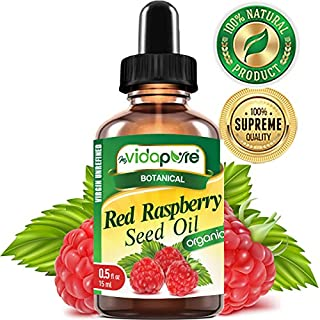 myVidaPure Organic RED RASPBERRY SEED OIL Rubus idaeus WILD GROWTH RAW 100% Pure VIRGIN UNREFINED Undiluted 0.5 Fl.oz.- 15 ml. For Skin, Face, Hair, Lip and Nail Care.