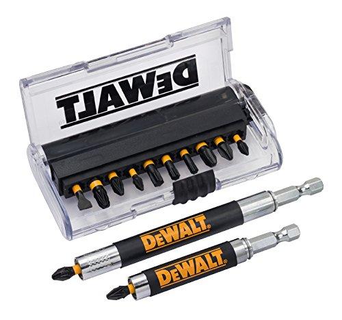 Dewalt DT70512T-QZ Juego de 14 Piezas para atornillar con 2 guías guía telescópica magnética Larga x 1