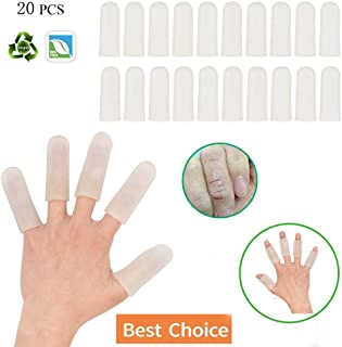 Sporting Style Gel Finger Covers,Silicone Finger Cots,Finger Protector for Women and Men, Great for Trigger Finger, Hand Eczema, Finger Cracking, Finger Arthritis and More(20-Pack)