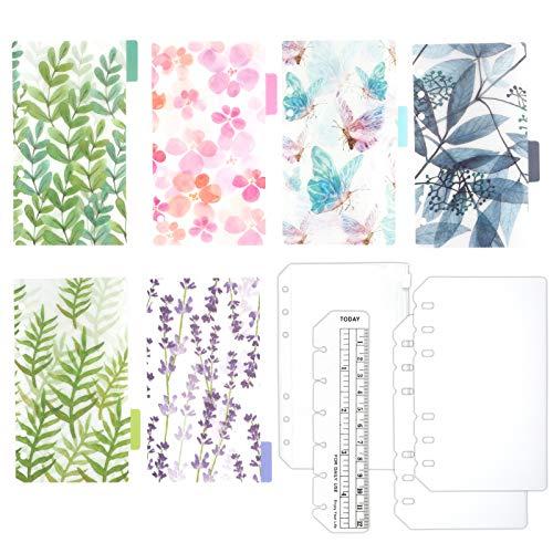 TSUKURIRO グリーン プラスチック インデックス 4種セット しおり定規 クリアポケット リフィル 保護 カバー (B6サイズ)