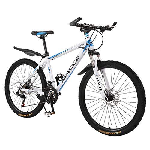 Klappfahrrad 22 Zoll Mountainbike mit Single-Speed-Scheibenbremse, Tragbares Mini-Fahrrad Cityfahrrad Cityrad für Herren, Damen, Studenten, Erwachsener, Büroangestellte (Weiß)