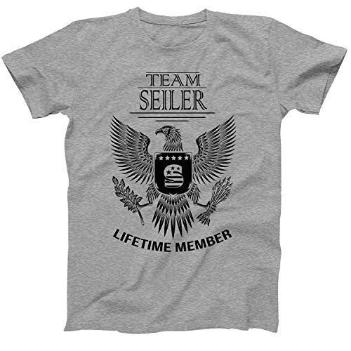 Lifetime Member of Team Seiler Family Seiler Surname T-Shirt Size Small Grey