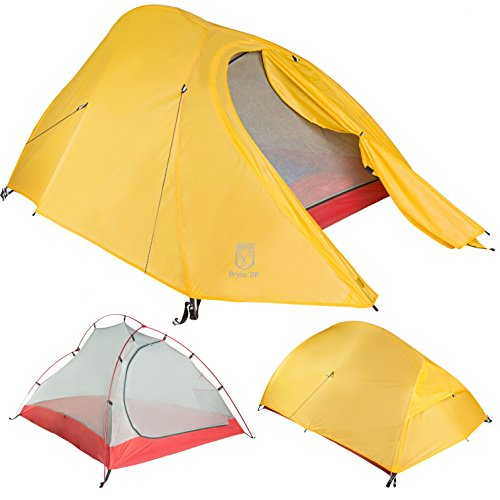 Paria Outdoor Products Bryce Ultralight Tent and Footprint - Perfect for Backpacking, Kayaking, Camping and Bikepacking (2P)