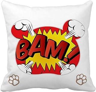 OFFbb-USA Boom Exclamation Spark Bear - Funda cuadrada para almohada