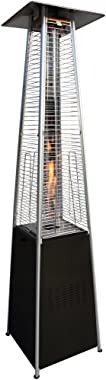 Garden Radiance GRP4000BK Dancing Flames Pyramid Outdoor Patio Heater with Black Base