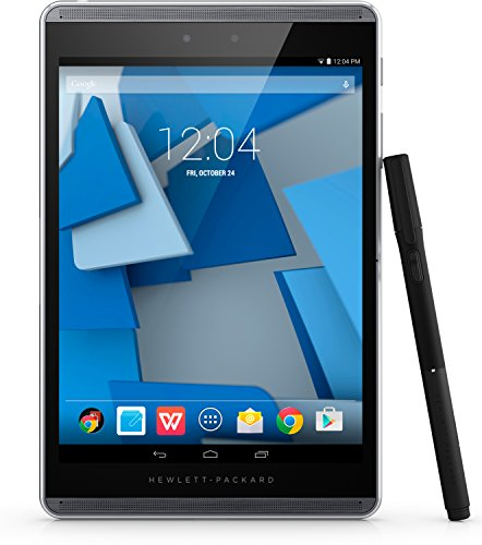 HP Pro Slate 8 (K7X64AA) 19,96 cm (7,86 Zoll) Business Tablet (Qualcomm Snapdragon, 2,3 GHz, 2 GB RAM, 32 GB eMMC, Full HD Bildschirm, WWAN 4G LTE, Wireless, Bluetooth 4.0, NFC, Android 4.4) schwarz